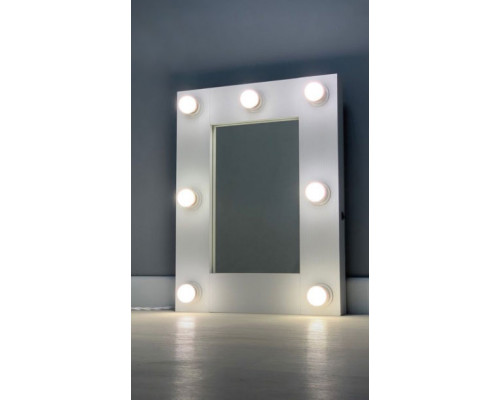 Гримерное зеркало с подсветкой лампами 60х45 см