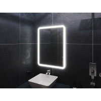 Зеркало в ванную комнату с подсветкой светодиодной лентой Бельви